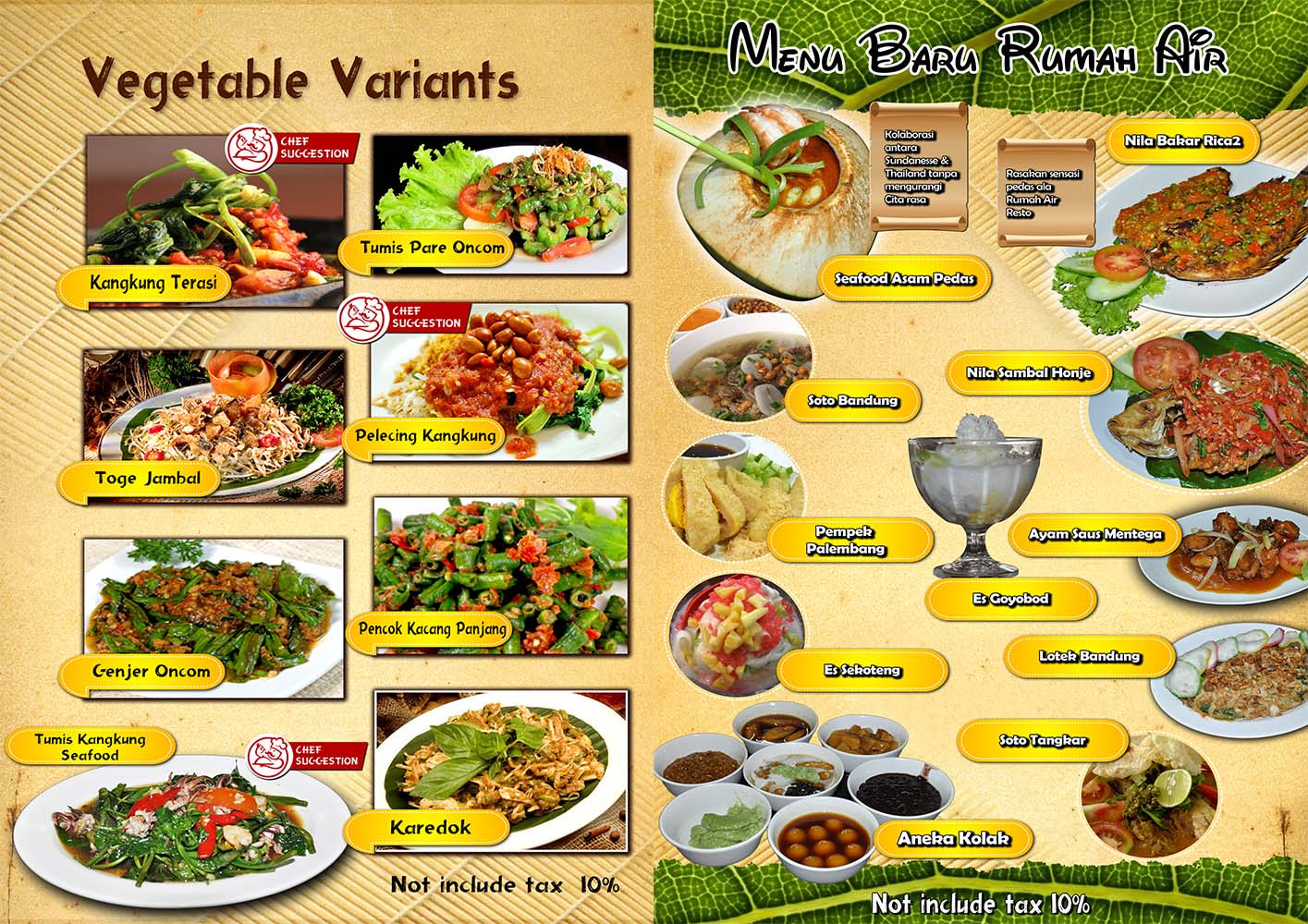 resto terapung Rumah Air Resto berbagai menu makanan pilihan 2, tempat wisata keluarga di bogor indonesia traveller guide