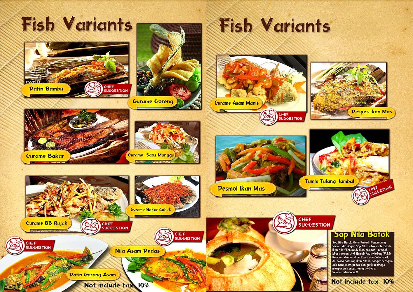 resto terapung Rumah Air Resto berbagai menu makanan pilihan 3, tempat wisata keluarga di bogor indonesia traveller guide